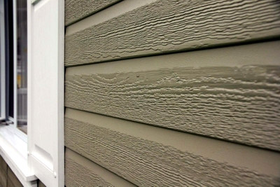 KWP Engineered Wood Siding — Made of 100% recycled wood.