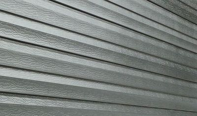 Seamless Steel Siding — seamless steel PVC coated color custom siding that requires zero maintenance and protects against bugs, insects and critters.